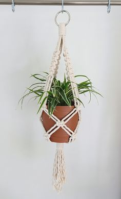 Most recent Snap Shots Macrame Plant Hanger Concepts If you have small place for the keeping of flowerpots, hanging flowerpots really are a good Option t Macrame Wall Hanging Diy, Macrame Plant Holder, Macrame Plant Hangers, Plant Holders, Rope Plant Hanger, Metal Plant Hangers, Macrame Projects, Macrame Patterns, Hanging Planters