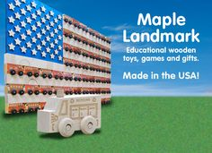 Wonderful wooden toys made right here in the USA. No fear of finding lead paint in these great toys!