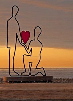 Sculpture on the beach, Batumi, Georgia