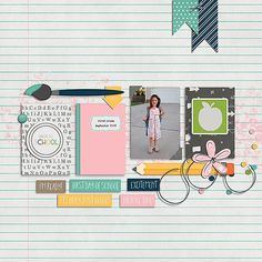 day of school 1st Day Of School, Back To School, School Scrapbook, Sewing Machine Reviews, Layout Inspiration, Scrapbooking Ideas, Scrapbooks, Layouts, Templates