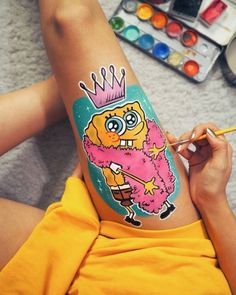 great from each other painting ideas on canvas, aesthetic painting, underwater painting, decoration chalk, watercolor ideas. Check out other wonderful examples Orca Tattoo, Hamsa Tattoo, Face Painting Designs, Paint Designs, Photographie Art Corps, Paintings Tumblr, Body Painting Tumblr, Art Sketches, Art Drawings