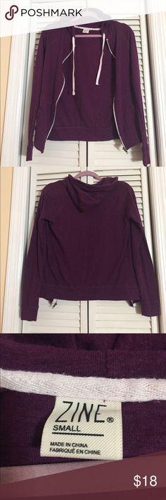 Purple zip up hoodie Purple zip up hoodie. In excellent condition. No trades. Zine Clothing Tops Sweatshirts & Hoodies