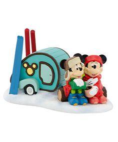 Loving this Dept. 56 Disney Village Collection Mickey & Minnie Camping Figurine on #zulily! #zulilyfinds