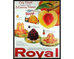 Royal Peach Gelatin Vintage Advertising by thevintageshop on Etsy