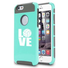 For iPhone 5 5s 5c 6 6s Plus Shockproof Impact Hard Case Cover Love Volleyball