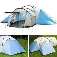 C&ing Tent Man 8Person Outdoor Tent Large Sewn-in Floor Vacation Quick Shelter  sc 1 st  Pinterest & Ozark Trail Base Camp 14 Person 3 Room Cabin Outdoor Camping ...