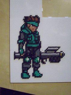 Solid Snake - Metal Gear perler beads by ioakanan on deviantART