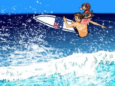 Australia and Wy surfing