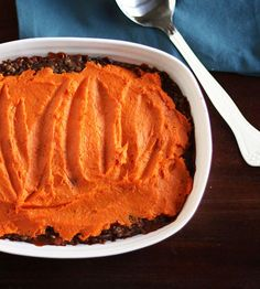 Recipe: Lentil, Mushroom Sweet Potato Shepherds Pie Recipes From The Kitchn. Would have to substitute the oats with something as oats are also problematic in our house. Maybe cornflour, or potato starch?