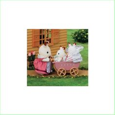 Sylvanian Families Toys Chocolate Rabbit Twins Set From Green Ant Toys Online Toy Store http://www.greenanttoys.com.au