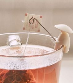 They just like your tea bag. Want them to help you hold your tea bag while it steeps? Tea Holder, Bag Holders, Tea Infuser, Dinnerware Sets, Tea Accessories, Do It Yourself Home, Cool Gadgets, Kitchen Gadgets, Kitchen Utensils