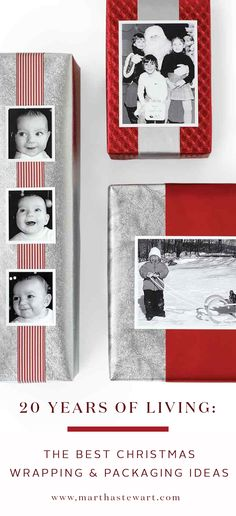 Make the packaging as fun as the present with handmade wrapping ideas from 20 years of Martha Stewart Living.