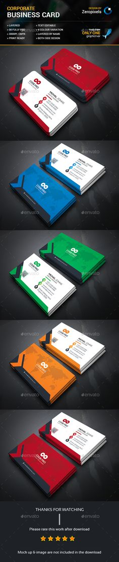Corporate Business Card — Photoshop PSD #professional #designer • Available here → https://graphicriver.net/item/corporate-business-card/15609938?ref=pxcr