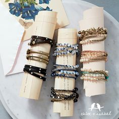 Beautiful bracelets from our sorting collection Chloeandisabel.com/boutique /nicolettewarning