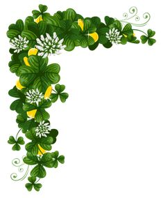 patrick's day png | St Patricks Day Shamrocks with Coins PNG Clipart