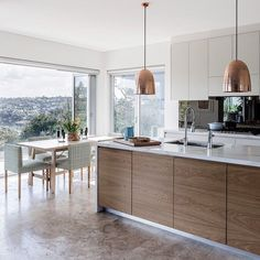 Modern Kitchen Cabinets Ideas to Get More Inspiration Dish #modernkitchencabinet #modernkitchen #kitchencabinet #kitchencabinets #kitchenremodel Modern Kitchen Island, Modern Kitchen Cabinets, Kitchen Reno, Modern Kitchens, Kitchen Interior, Home Kitchens, Kitchen Backsplash, Kitchen Dining, Kitchen Items