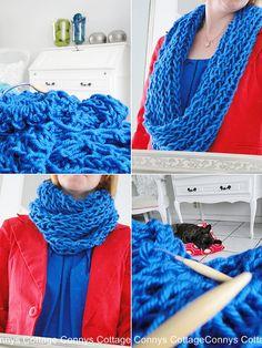 knitting a loop