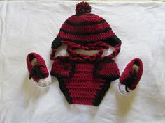 Gamecock hat, diaper cover and shoes