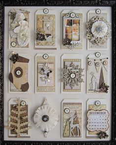 Gorgeous tag advent calendar from Lynette Carroll Lucky Me I had the pleasure of being in the class for this gorgeous piece. It is even better in real life!