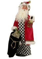 2014 Byers' Choice Black/White Check Santa