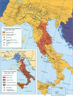 Italy: Map of interventions in the Crusades by Italian states