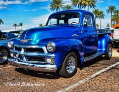 Blue 1954 Chevrolet Pick-up Truck by Edward Saksenhaus on 500px