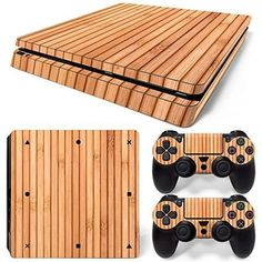 ModFreakz® Console/Controller Vinyl Skin Set - Wood Strips for Slim. Perfect gaming accessories for playstation gamers, gamer girls, gamer couple and to those who are looking for gamer gift ideas. Gamer Couple, Gamer Girls, Gamer Boyfriend, Ps4 Skins, Gaming Accessories, Led Light Bars, Games For Girls, Strip Lighting, Playstation