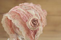 Photo prop lace bonnet