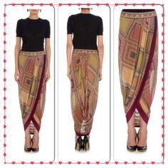 Scraf board dhoti skirt