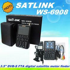 5 шт. бесплатная доставка Satlink WS-6906 DVB-S FTA С & Ку-диапазон Цифрового Спутникового Finder Метр 3.5 жк ws6908 satlink ws 6908 искатель
