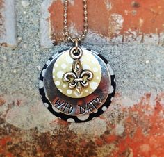 Who Dat - Hand stamped stacked necklace - New Orleans Saints - football on Etsy, $20.00