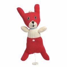 Muziekknuffel konijn met rode broek van Anne Claire Petit