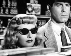 Barbara-Stanwyck---Fred-McMurray-in-Double-Indemnity---film-noir-fashion Barbara Stanwyck, Film Roman, Roman Noir, Martin Scorsese, Classic Hollywood, Old Hollywood, Hollywood Cinema, Taschen Books, Top 10 Films