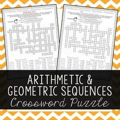 Arithmetic Sequences And Geometric Sequences Mazes  Arithmetic