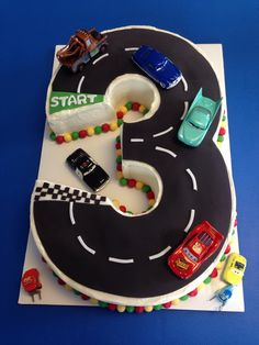 Disney Cars Third Birthday Cake
