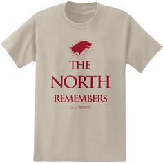 Game of Thrones North Remembers House Stark T-Shirt #Tees