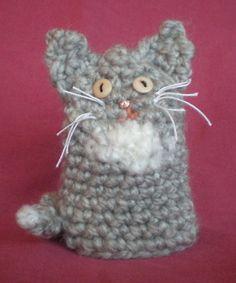 Crochet cat (novelty egg cosy)