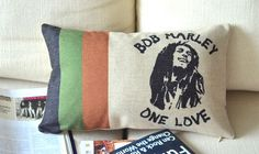 "Bob Marley Reggae Limited Memorabilia Pillow Case Cushion Cover 20"" * 12"" PQ31"