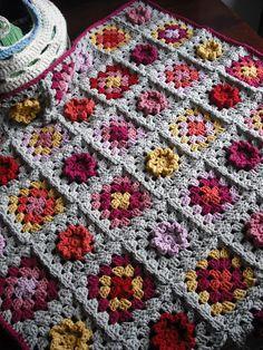 granny square blanket-- color!