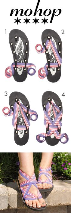 Show your Spirit with this Mohop Shoes How to Tie Tutorial.  Free Interchangeable American Flag ribbons with all orders before July 4th!    Vegan   Made in USA