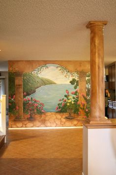 Cute Nature Garden Murals in Mediterranean Lounge Easy Wall Murals to Tell the Beauty of the World