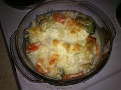 Chicken casserole with vegetables and mozzarella :) diet and delicious! #cooking #diet