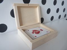 Wooden box for playing cards, Play Card Box, one compartment box, unfinished wooden poker set gift, blank plain box for cards wooden case  Craft Supplies & Tools  Etsy Shop Supplies  Boxes & Tins  wooden box for cards  playing cards box  natural wooden box wooden game set  plain wooden box  for decoupage  wooden case  bridge cards box  unfinished box  wooden storage wood for painting  poker card box  wooden cards box Listed on Jun 23, 2016 26 views 5 favorites