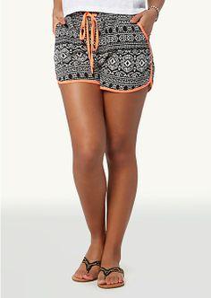 Neon Tribal Retro Shorts | Shorts | rue21