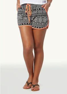 Neon Tribal Retro Shorts | Shorts | rue21 to wear at the beach or in Summer