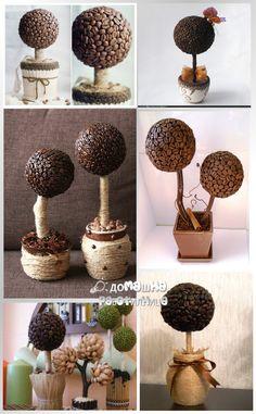 декоративно дърво от кафени зърна