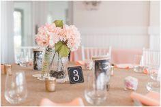 Peach Wedding Reception Centerpieces | Elizabeth Henson Photos