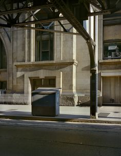 "Exhibition: 'Wayne Sorce: Urban Color' at Joseph Bellows Gallery, La Jolla, California. ""Superb."" SEE THE FULL POSTING AT https://artblart.com/2017/11/17/exhibition-wayne-sorce-urban-color-at-joseph-bellows-gallery-la-jolla-california/ Photo: Wayne Sorce. 'Under the EL, Chicago' 1978"