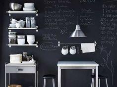 Decorare le pareti con la vernice lavagna
