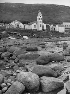 Moravian Mission and Church, Nain, Labrador, Canada, my mom, my daughter and I were baptized in this church. The mission house is gone now.